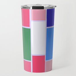 Colored Tiles Version 2 Travel Mug