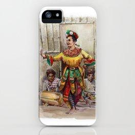 Tari topeng Betawi iPhone Case