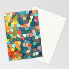 Stained Glass Multi-Color Cool Mint Stationery Cards