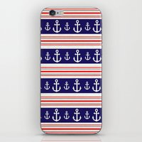 anchors iPhone & iPod Skins featuring anchors by Manoou