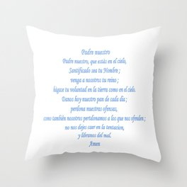 Padre nuestro Throw Pillow
