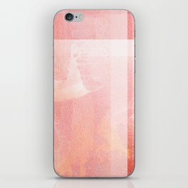 Living Coral - Digital Grunge Abstract iPhone Skin
