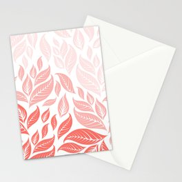 LIVING CORAL LEAVES 3 Stationery Cards