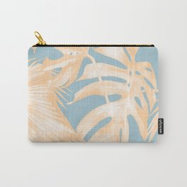 Tropical Leaves Citrus on Ocean Blue Carry-All Pouch