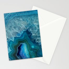 Agate Crystal Slice Stationery Cards