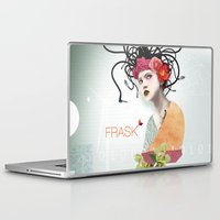 techno Laptop & iPad Skins featuring FRASK techno by Fraskdesign