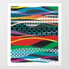 Wave Blaze Art Print