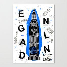 England typography Canvas Print