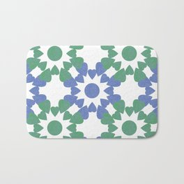 abstract background with flower and hearts Bath Mat