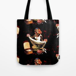 Zombie Pin Up Tote Bag