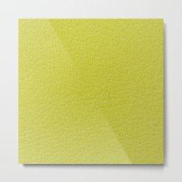 Yellow Wall Metal Print