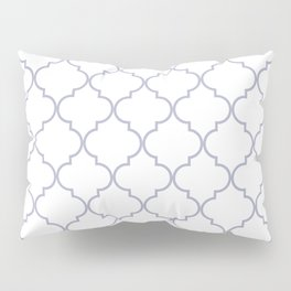 Quatrefoil - white and silver Pillow Sham