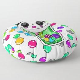 Bubble tea panda Floor Pillow