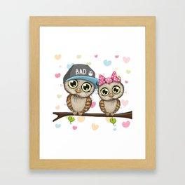 CUTE--OWL Framed Art Print