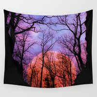 moonrise Wall Tapestries featuring Moonrise Canyon by Pirmin Nohr