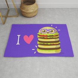 I Love Burgers Rug