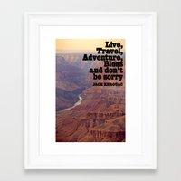 kerouac Framed Art Prints featuring Kerouac by muffa
