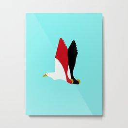 Steppe Eagle - Egypt national cymbol, flag color Metal Print