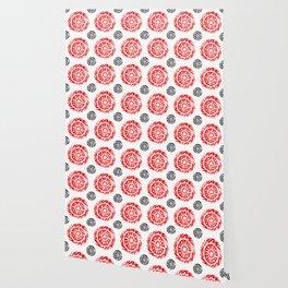 Sun mandala pattern Wallpaper