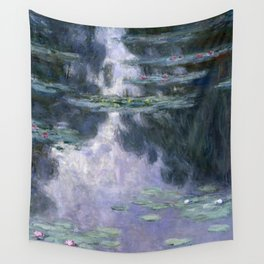 Monet - Water Lilies (Nymphéas), 1907 Wall Tapestry