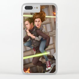 Fitzsimmons - Space Rollerblades Clear iPhone Case