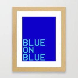 BLUE ON BLUE KAPPA PRINT Framed Art Print