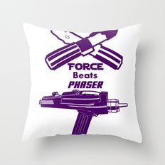 Force beats Phaser Throw Pillow