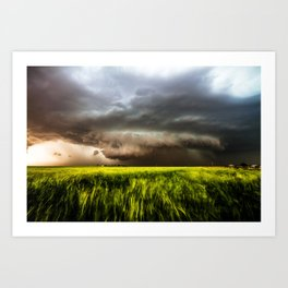 Inflow - Incredible Storm in Southwest Oklahoma Art Print