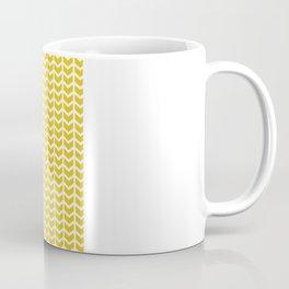 mustard chevron Coffee Mug
