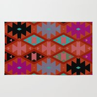 bohemian Area & Throw Rugs featuring bohemian by spinL