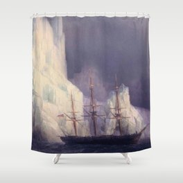 Icebergs Landscape Masterpiece by Ivan Aivazovsky Shower Curtain