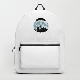 Paragliding Moon Paraglider Adventure Daredevil Gifts Backpack