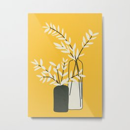 Abstract Vases Metal Print