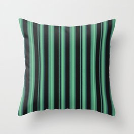 Simple green, black striped pattern. Throw Pillow