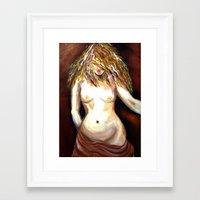 musa Framed Art Prints featuring Musa by M.Mancebo