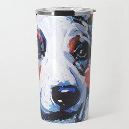 fun CARDIGAN WELSH CORGI bright colorful Pop Art painting by Lea Travel Mug