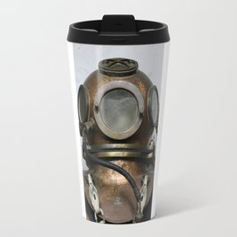 Antique vintage metal underwater diving helmet Travel Mug