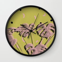 Monstera 2 Wall Clock