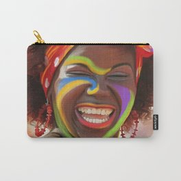 Life's a Carnival (Carnaval de Barranquilla) - Negrita Puloy Impressionism - Magical Realism Carry-All Pouch