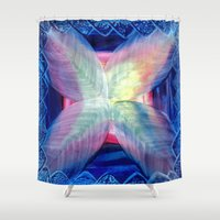 fifth harmony Shower Curtains featuring Harmony by Vargamari