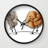 rock and roll Wall Clocks featuring Rock & Roll by Daniel Spreitzer