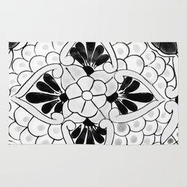 Black and White Talavera Nine Rug