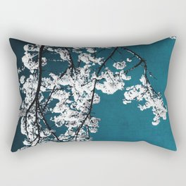 white blossoms Rectangular Pillow