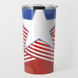 Red White And Blue Party Travel Mug