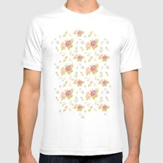 FLORAL MEDIUM Mens Fitted Tee White