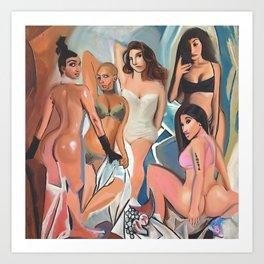 Les Demoiselles d' Los Angeles by The Producer BDB Art Print