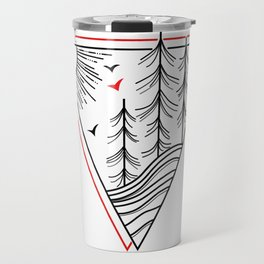 Triangle Tree Travel Mug