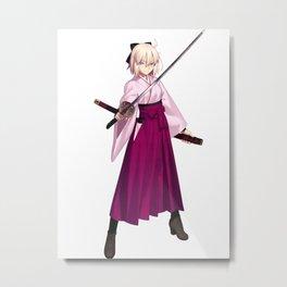 Fate Grand Order - Sakura Saber Metal Print