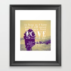 Love & Pizza Framed Art Print