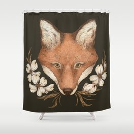 The Fox and Dogwoods Shower Curtain